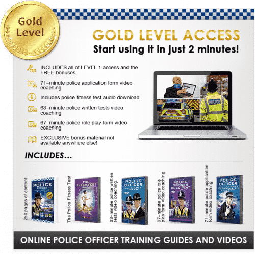 How to Become a Police Officer Gold Banner image