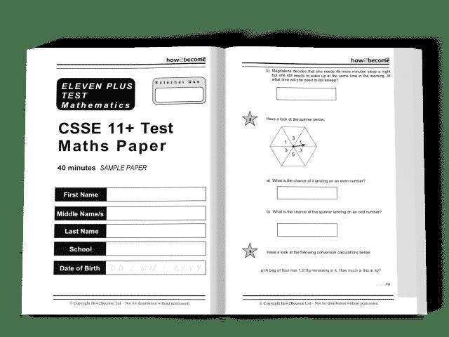 csse 11+ free familiarisation practice papers