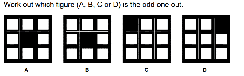CEM 11+ Non-Verbal Reasoning Test Question 1