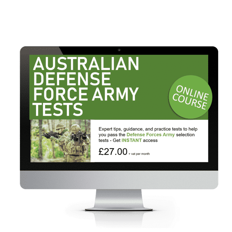 Australian Defence Force Army Tests - Online Course - How 2