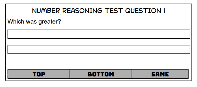 ACT Sample Number Test Question 1b