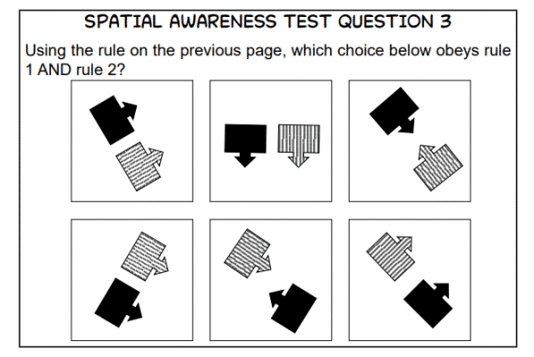 ACT Sample Spatial Question 1a
