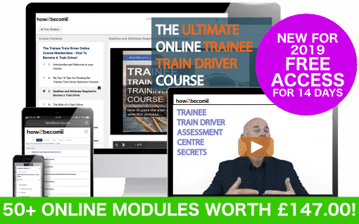 Online Trainee Train Driver Training Course - become a train driver