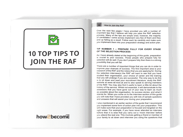 10 Top Tips to Join the RAF download