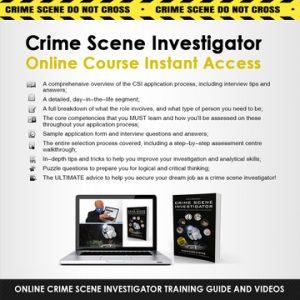 Online Crime Scene Investigator Instant Access