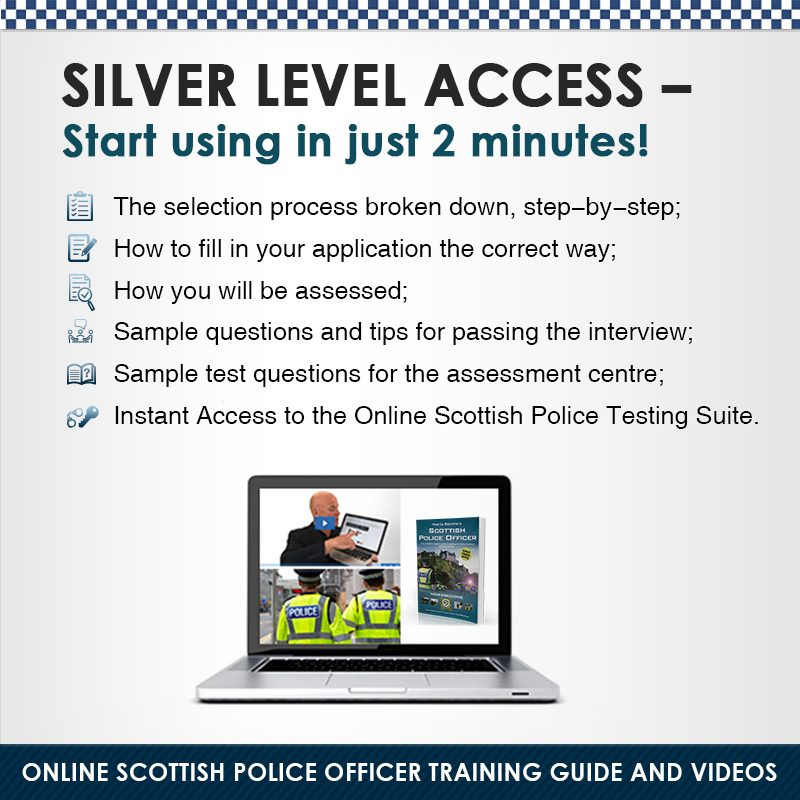 Scottish Police Officer Silver edition Instant Access