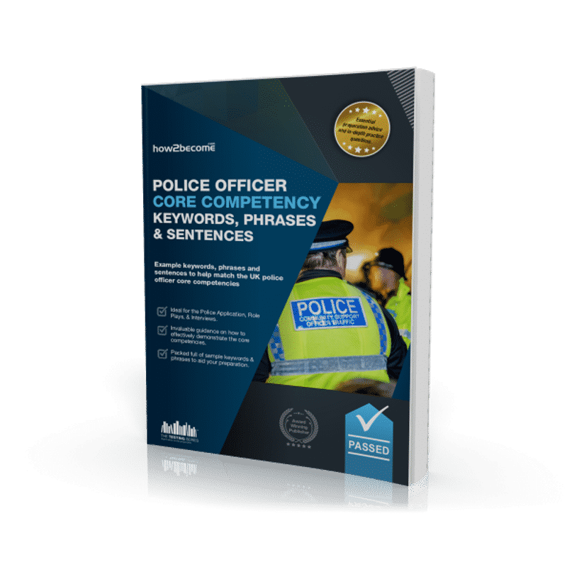 Police Officer Core Competency Keywords, Phrases and Sentences Workbook