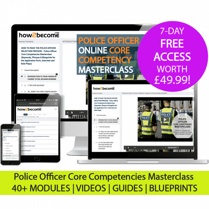 Police Officer Core Competency Keywords for Interviews roleplays and the assessment centre Free