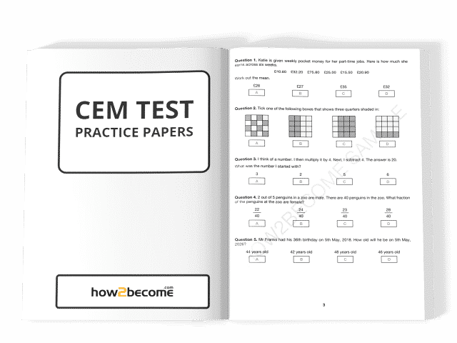 CEM Test Practice Papers PDF