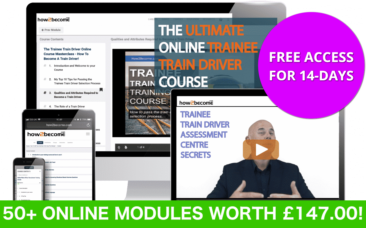 The Ultimate Online Trainee Train Driver Training Course