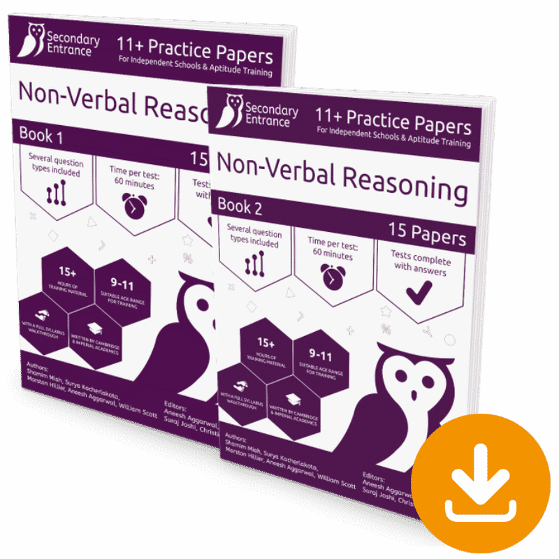 Independent 11+ Non-Verbal Reasoning Pack Download