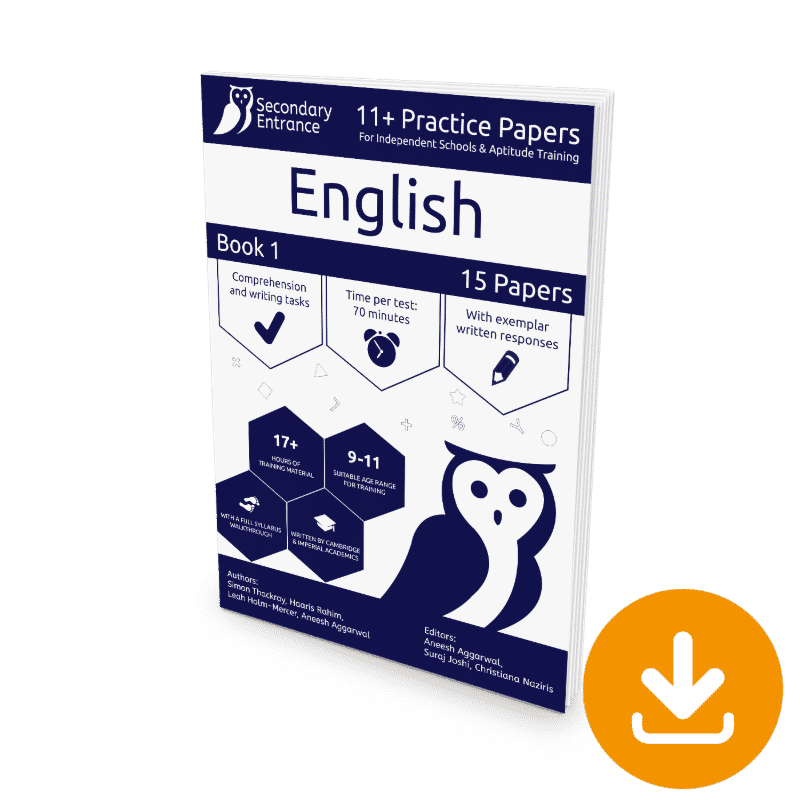 Private Secondary School 11+ English Practice Paper download
