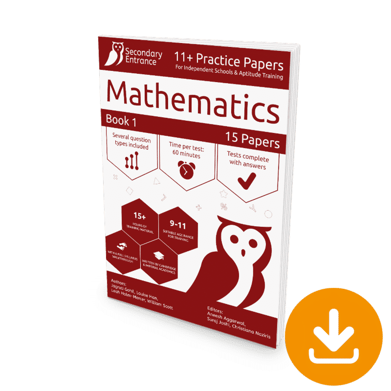 Private Secondary School 11+ Maths Practice Paper Download