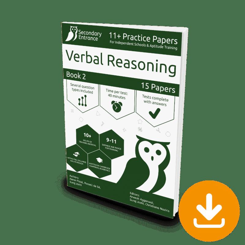 Private Secondary School 11+ Verbal Reasoning Practice Paper 2 Download