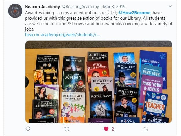 Twitter Beacon Academy Free Books in Library
