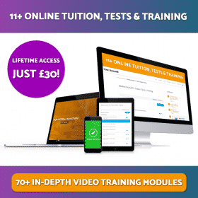 11+ Online Tuition, Tests & Training Lifetime Access