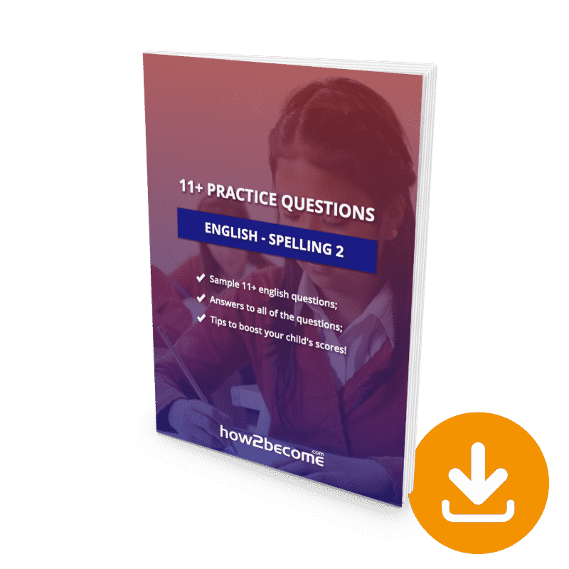 11 Plus Questions English Spelling 2 Download