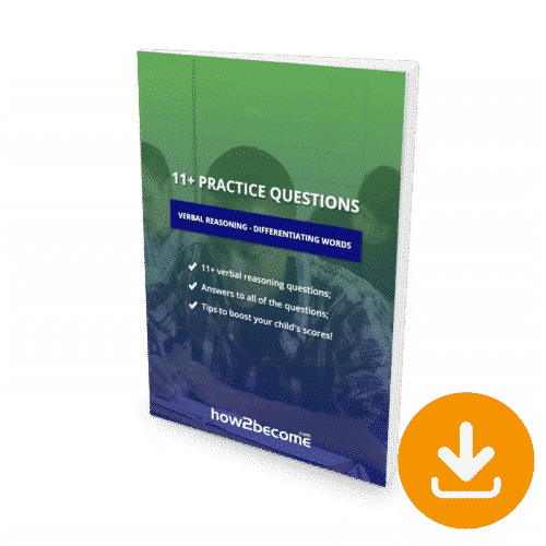 11 Plus Questions Verbal Reasoning Differentiating Words Download