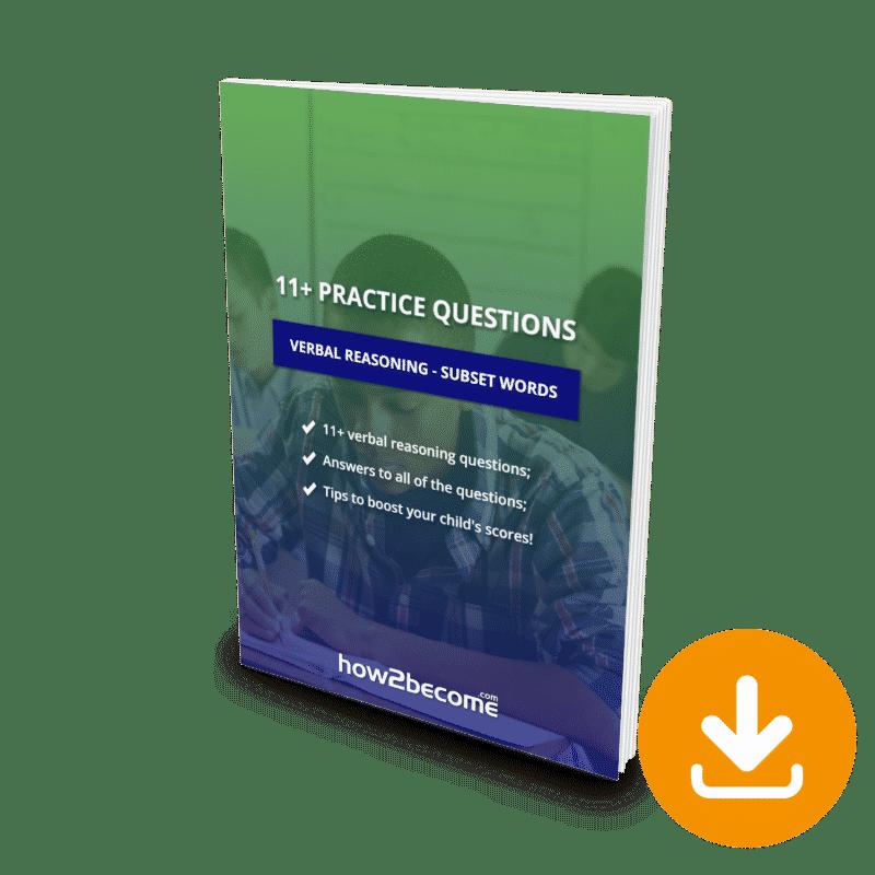 11 Plus Questions Verbal Reasoning Subset Words Download