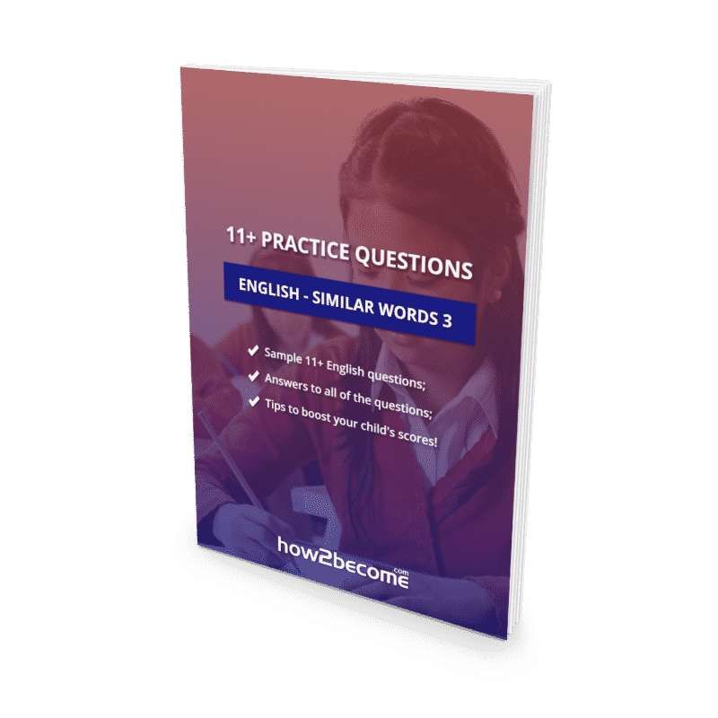 11+ Practice Questions English Similar Words 3