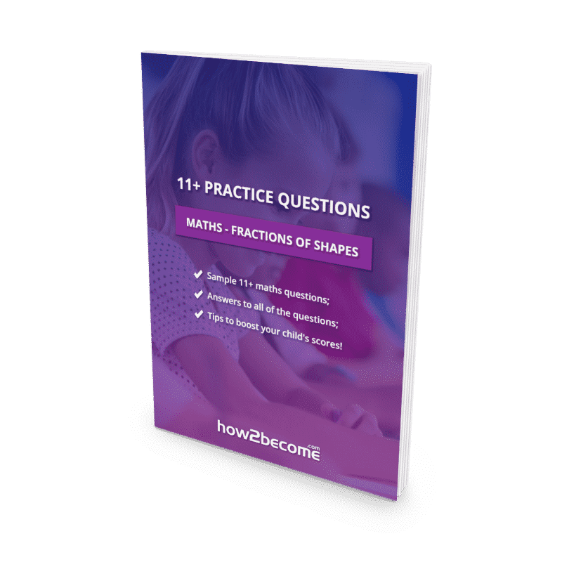 11+ Practice Questions Maths Fractions of Shapes