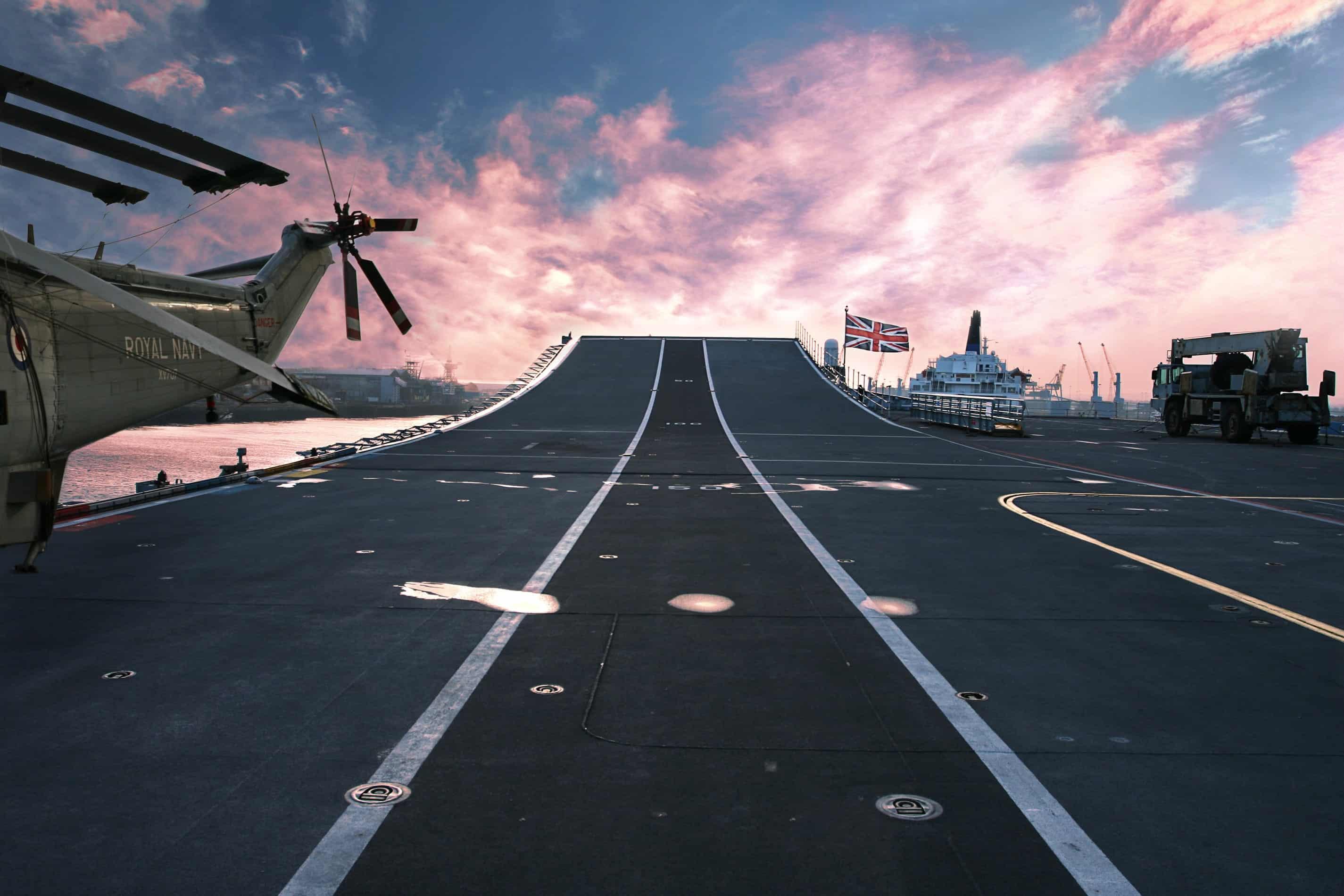 UK Royal Navy Ship Runway
