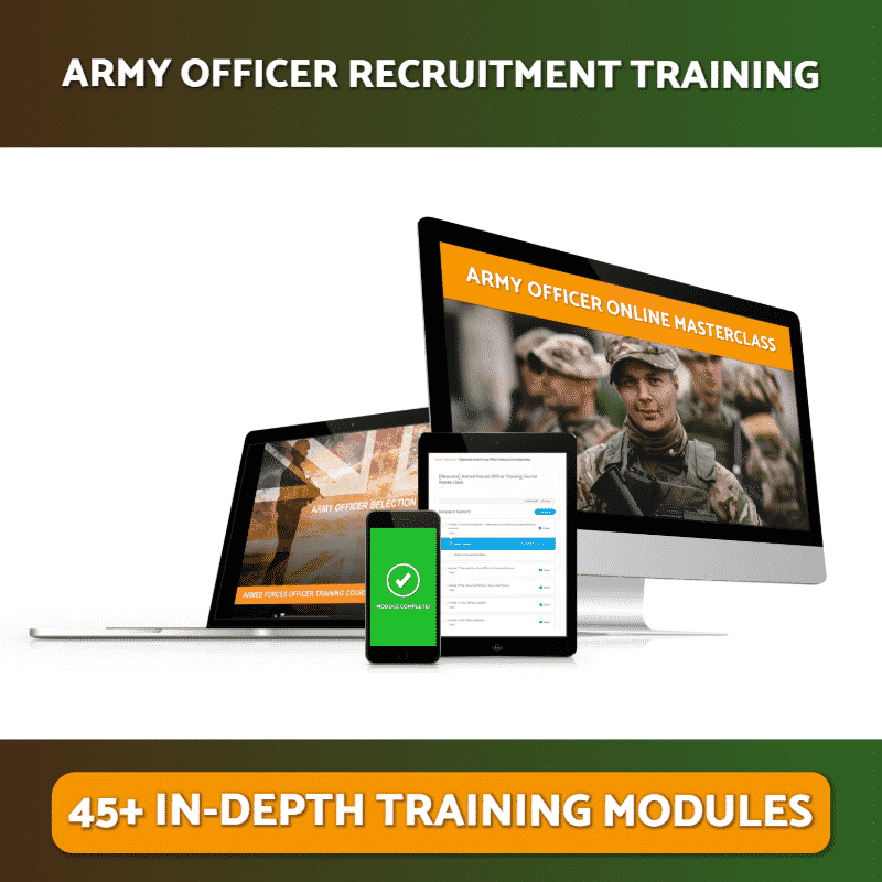 Army Officer Recruitment Training Online Masterclass