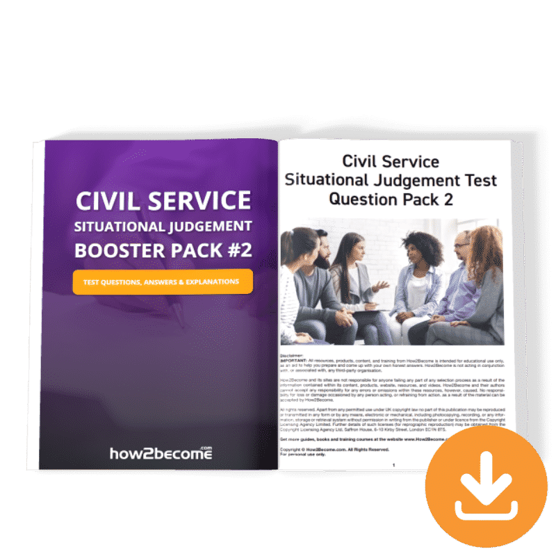 Civil Service Situational Judgement Booster Pack 2 Download