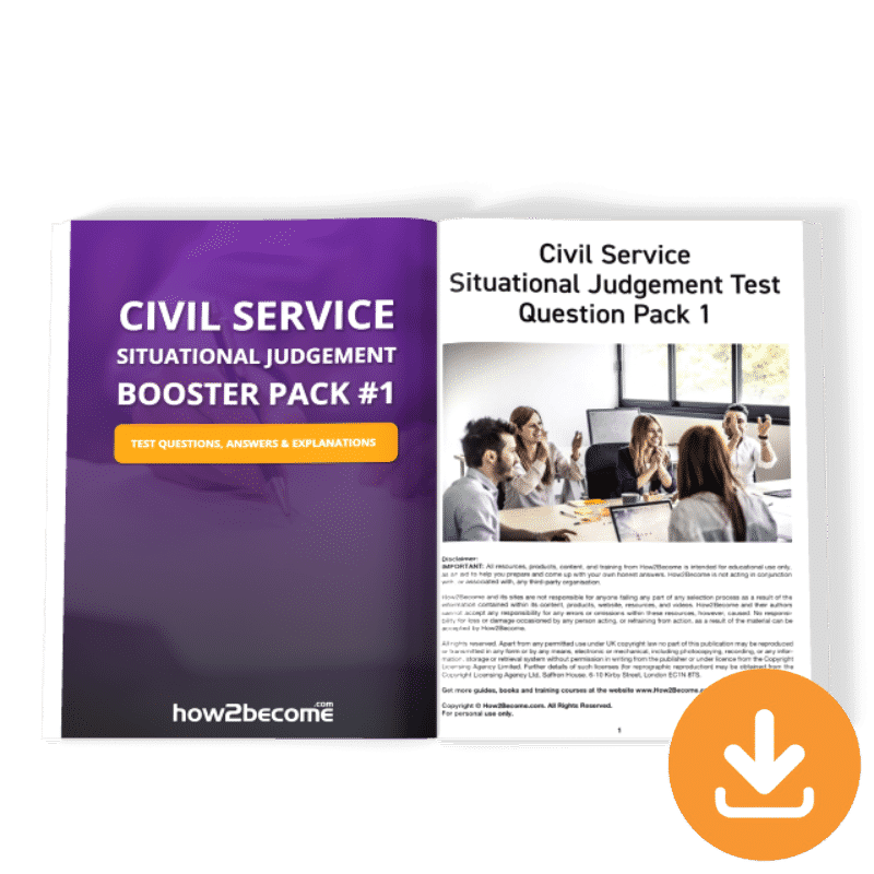 Civil Service Situational Judgement Test Questions and Answers Booster Pack 1 Download