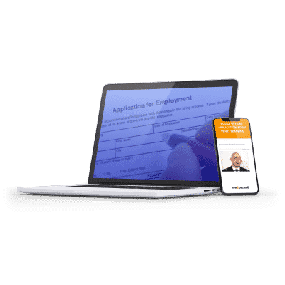 Police Officer Application Form Video Training