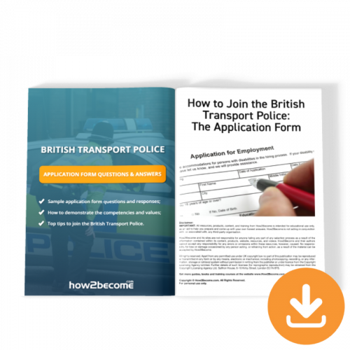 British Transport Police Application Form Questions and Answers Download