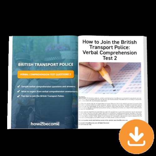 British Transport Police Verbal Comprehension Test Questions 2 Download