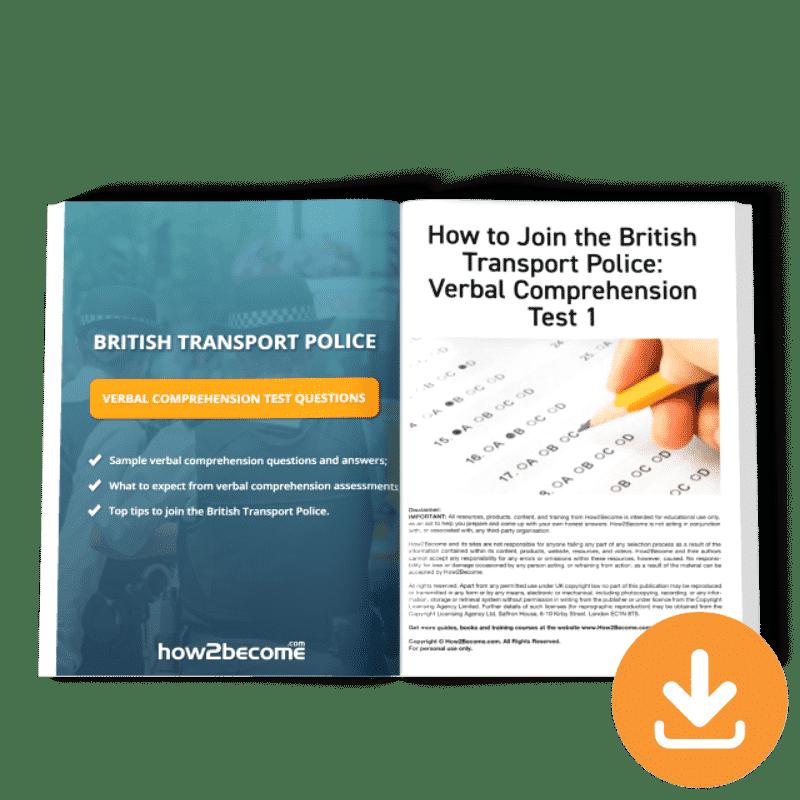 British Transport Police Verbal Comprehension Test Questions Download