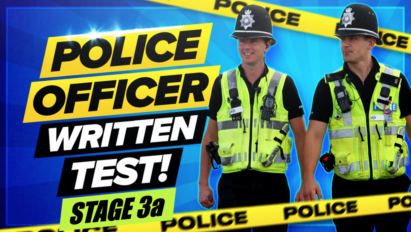 Police Online Assessment Process (Stage 3a) WRITTEN EXERCISE Questions