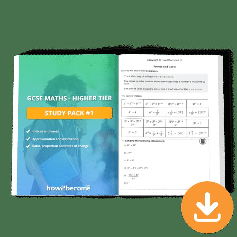 GCSE Maths Higher Tier Study Pack 1