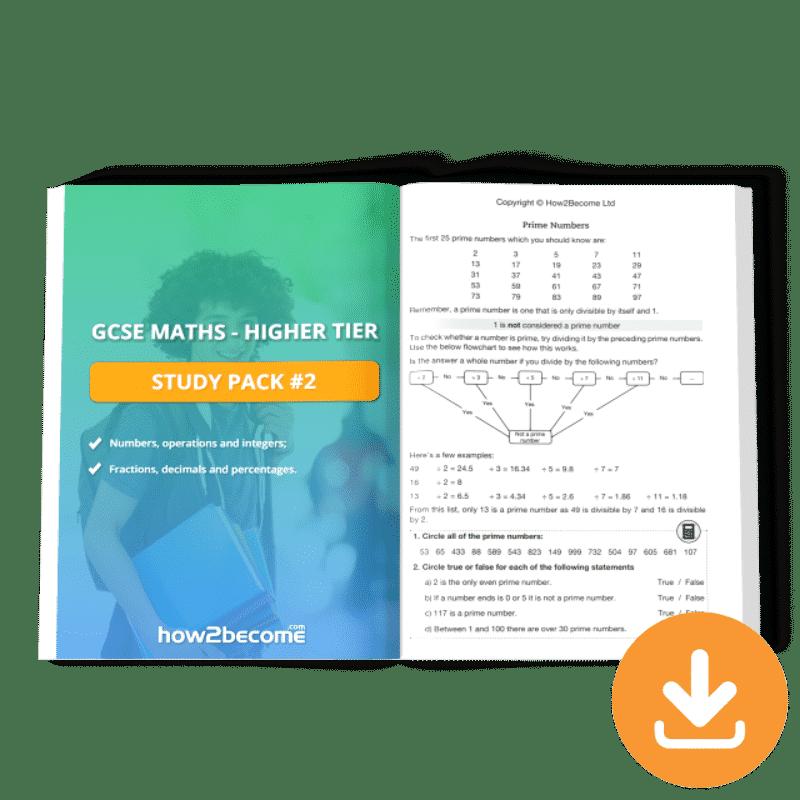 GCSE Maths Higher Tier Study Pack 2
