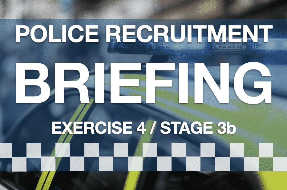 Police Online Assessment Process Briefing Exercise Guide