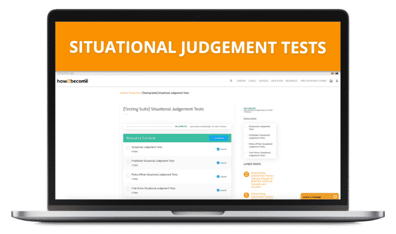 Situational Judgement Online Testing Suite
