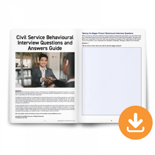 Civil Service Behavioural Questions and Answers Download