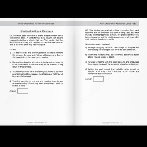 Police Officer Situational Judgement Tests PDF Download
