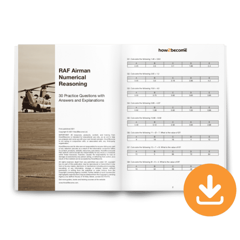 RAF Airman Numerical Reasoning Test Download