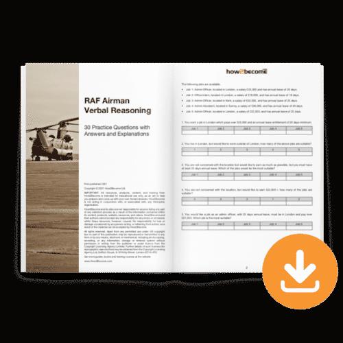 RAF Airman Verbal Reasoning Test Download