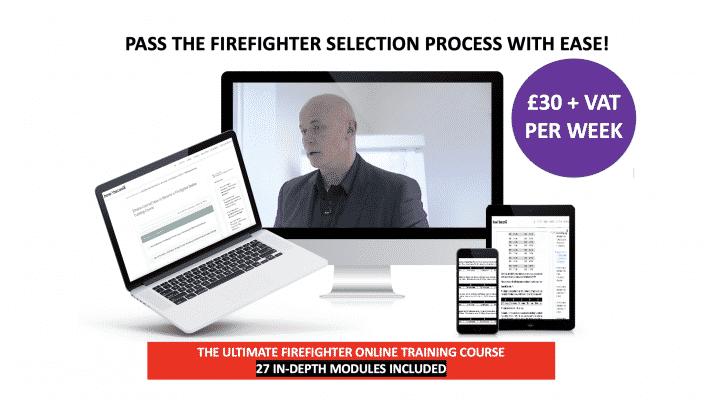 Online firefighter training course £30 per week