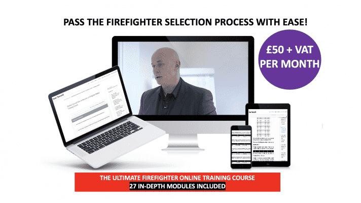 Online firefighter training course £50 per month