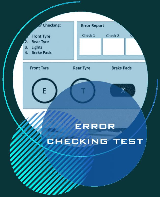 error checking test