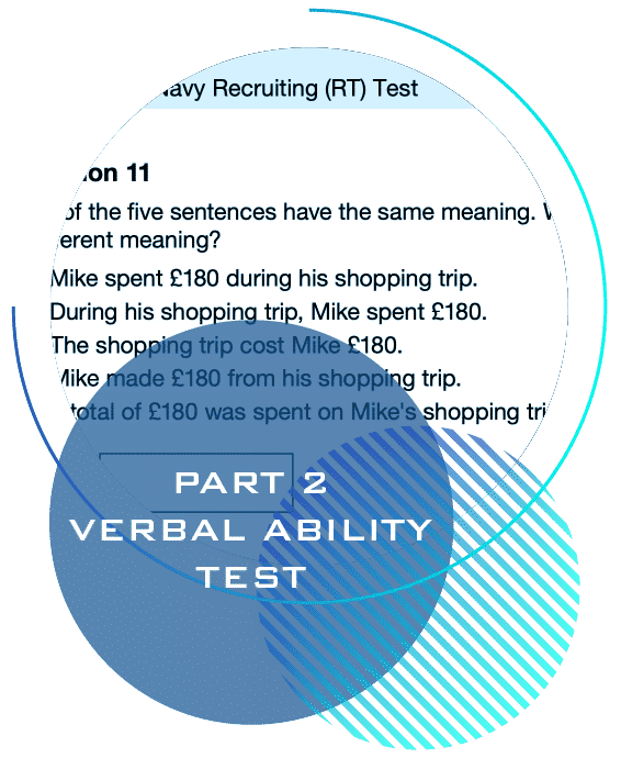 pass the Royal Navy recruiting test